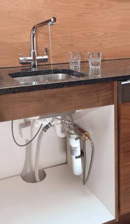 vital premium Wasserfilter und 3-Wege-Wasserhahn permaquell Untertisch Küche unter der Spüle wassershop
